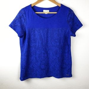 Calvin Klein | Blue Layered Womens Tee Shirt Large